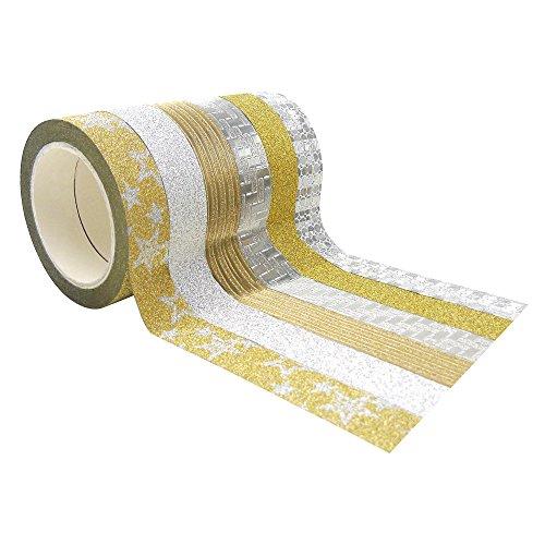 6x decorative Washi cinta adhesiva de papel adhesivo de carrocero Collection Scrapbooking DIY