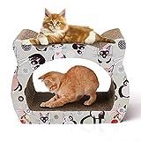 Nobleza - Raschietto per Gatti di Cartone. Supporto per Il Riposo a Forma di Gatto con Erba gatta.