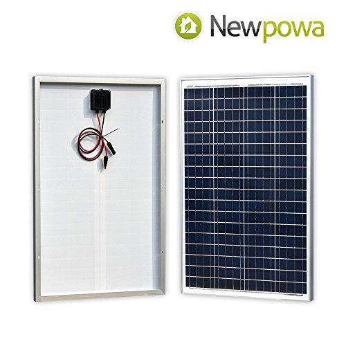 Newpowa 100 Watt Polykristallines SolarModul Hohe Effizienz 100W 12V SolarPanel Poly Solarzelle Photovoltaik für Wohnmobil Gartenhäuse Boot