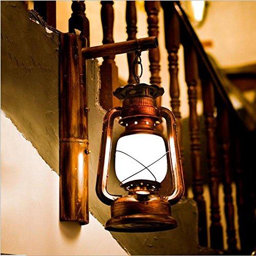 Twin Loft-schlafzimmer (XIAOJIA Im chinesischen Stil Retro-Laterne kreative Handarbeit Bambus Lampe Restaurant Teehaus Cafe Schlafzimmer Flur dekorative Wandleuchten Beleuchtung Leuchte)