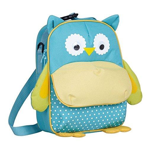 Babyhugs®-borsa per il pranzo, per bambini, con 3 vie-animal-zaino scuola materna, borsa termica per il pranzo blu 3-way - blue owl