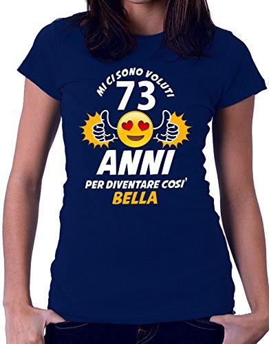 Tshirt compleanno Mi ci sono voluti 73 anni per diventare così bella - eventi - idea regalo - compleanno - Tutte le taglie Blu