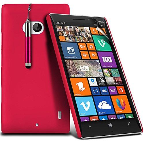 ( Blue ) Nokia Lumia 930 Tough Survivor Fest Rugged Shock Proof Heavy Duty Case W / Back-Stand, LCD-Display Schutzfolie, Poliertuch und Mini-versenkbaren Stift durch Spyrox Fester Einband (Hot Pink)