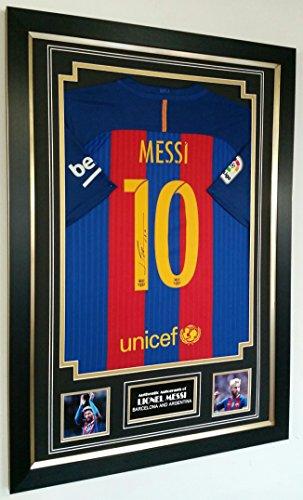 NEW-Lionel-Messi-OF-Barcelona-SIGNED-Shirt-AFTAL-DEALER-COA
