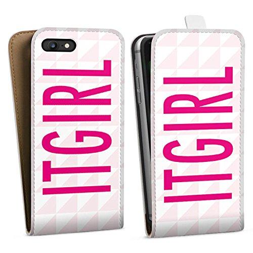 Apple iPhone X Silikon Hülle Case Schutzhülle Itgirl Pink Girly Downflip Tasche weiß
