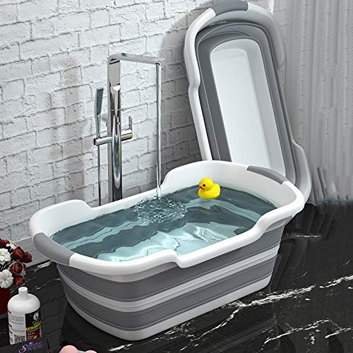 zoujun Silikon-Haustier-Badewanne, die rutschfeste Badewanne-Sicherheits-Katzen-Hundebadewanne faltet