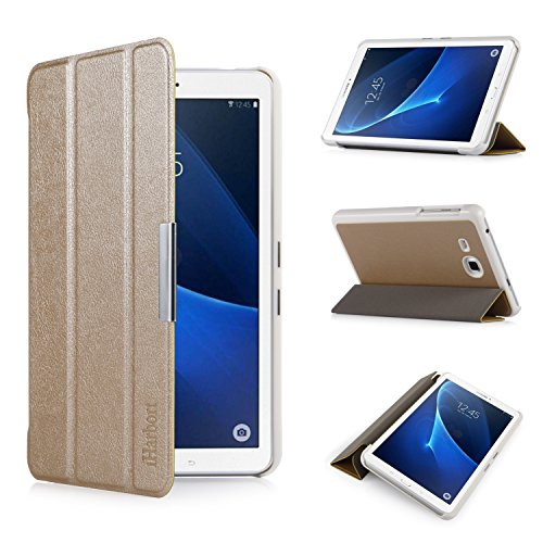 iHarbort® Samsung Galaxy Tab A 7.0 Hülle - Ultra Slim Leder Tasche Hülle Etui Schutzhülle Für Samsung Galaxy Tab A 7.0 Zoll T280 T285 Case Cover Holder,(Galaxy Tab A 7.0, Gold)