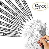 Schwarze feine Liner Stift, MOGOI wasserdichte Pigment Liner Mikro Liner skizzieren, zeichnen Stifte zum Skizzieren, zeichnen, Entwurf von Office Dokumenten Comic Manga Scrapbooking und mit der Schule