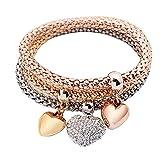 Mypace Silber Gold 925 Armreif Für Damen Herren 3Pcs Frauen Mädchen Charm Rhinestone Owl Pendant Armband Multilayer Armband