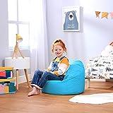Bean Bag Bazaar Pouf Poire Enfant - 58cm x 42cm, Petit Moyen Fauteuil Enfant (Bleu Aqua, 1)