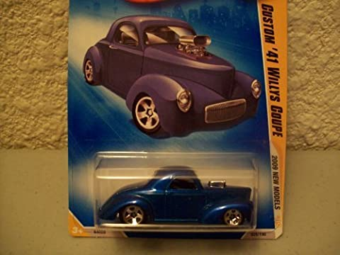 Hot Wheels 2009 New Models Blue Custom 41 Willy's Coupe 1:64 Scale by Hot Wheels