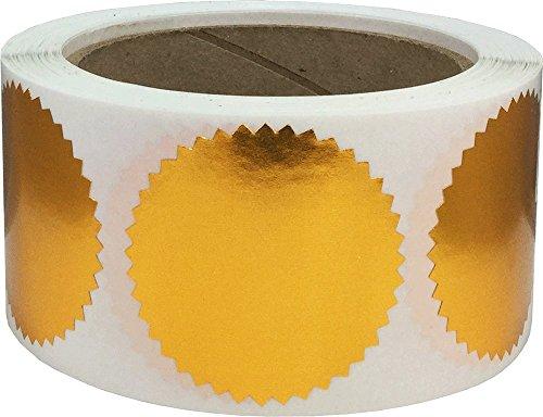 Schublade Dichtung (Glänzend Bronze Wellenschliff Zertifikat Auszeichnung Verpackung Dichtungen, 51 mm 2 Zoll Breit, 500 Etiketten auf einer Rolle)