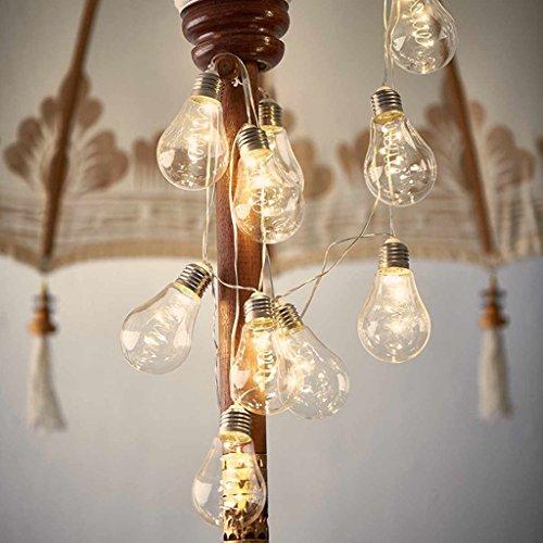 Kupfer Ball Birne String Glühbirne Lichterkette Weihnachten Tag Lichter Kupfer Lichter Tandem Batterie Box Glühbirne 4m-10LED Warmes Weißes Licht (2 PACK)