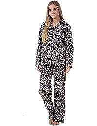 Conjunto de pijama para mujer - Manga larga - 100 % algodón