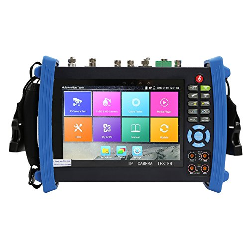 OnvianTech 7 Inch Touch Screen 1080P HDMI IP Camera CCTV Tester/POE Test/WIFI Digital Multi-meter/Optical Power Meter/Visual Fault Locator/TDR/SDI TVI/CVI/AHD Tester IPC-8600MOVTSADH Full Function