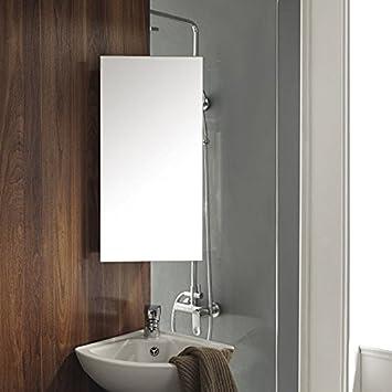 Uenjoy Mirror Cabinet Wall Corner Storage Unit Bathroom Cabinet