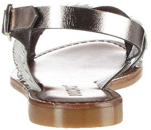 Inuovo 7261, Scarpe Col Tacco con Cinturino a T Donna Weiß (Pewter-White)