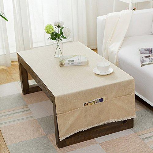 Nappe,Tissu imperméable à l'eau pure couleur café nappe,Rectangulaire cent serviette coffret couverture de tv,Nappe tissu réfrigérateur-E 70x160cm(28x63inch)