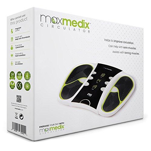 MaxMedix Circulator Machine - Dispositivo De Electroestimulación Portatil Para Pies, Piernas y Cuerpo - Masajeador Electrónico Para Mejorar La Circulación - 99 Diferentes Modos De Ejercicio