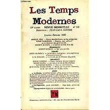 LES TEMPS MODERNES N° 109 - MARCEL PÉJU. — Pierre Mendès-France ou les ambiguïtés. HENRI GUILLEMIN. — Bazaine, nom collectif ou la sécession des généraux (I).NELSON ALGREN. — L'homme au bras d'or (II)TÉMOIGNAGESROBERT MISRAHI.