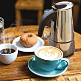 Godmorn Espresso Maker, Stovetop Espresso Maker, Coffee Maker, Moka Pot: Classic Cafe Maker made of 430 stainless steel for 10cups (450 ml), suitable for induction cookers (espresso cooker)