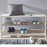 miaVILLA-Etagre--chaussures-3-tages-en-bois-blanc-et-acier-inoxydable-105-x-34-x-50-cm