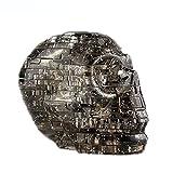 3D Totenkopf Kristall klar Puzzle Spielzeug, mamum 3D Kristall Puzzle Skull klar Modell DIY Gadget Blocks Building Spielzeug Geschenk Einheitsgröße grau