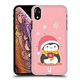 Head Case Designs Tazza con Fiocchi di Neve Pinguini Natalizi Kawaii Cover Retro Rigida per iPhone XR
