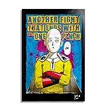 Arthole.it Saitama da One Punch Man (One - Murata) - Quadro Pop-Art Originale con Cornice, Dipinto, Stampa su Tela, Poster, Locandina, Anime, Manga