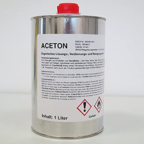 1Litre Acetone Cleaner, Degreaser, Thinner, Metal Parts Cleaner