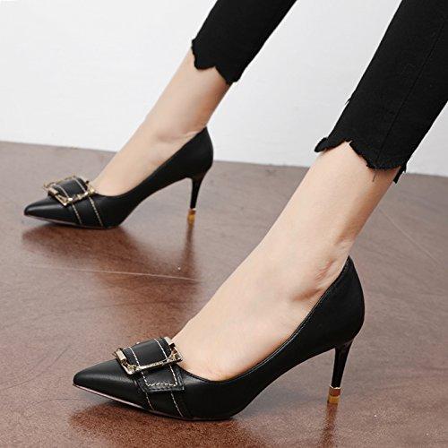FLYRCX Primavera e autunno personalità del mondo della moda, tacchi alti, tacco alto calzature scarpe di partito b