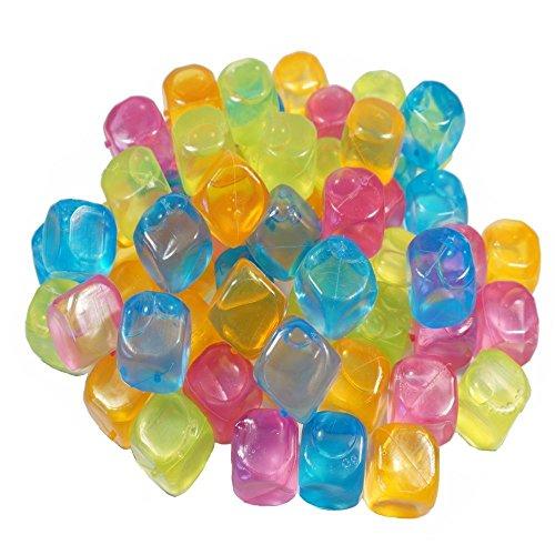 esto24- Party Eiswürfel aus Kunststoff Wasserfüllung wiederverwendbar (80)