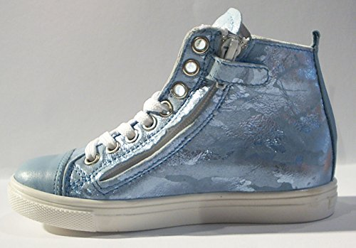 Acebo's High Top Sneaker Leder Reißverschluss hellblau Hellblau