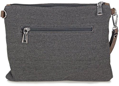 40f9f15439c47 ... L S Collection Stern Umhängetasche Canvas kleine Clutch Bag Abendtasche  für Damen (27