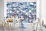 Komar - Fototapete LIGHT BLUE - 368 x 254 cm - Tapete, Wand, Dekoration, Wandbelag, Wandbild, Wanddeko, Blüten, Blauverlauf - 8-961