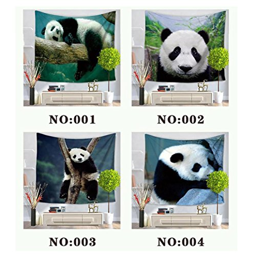 FeiliandaJJ Beach Towel, Animal Panda Style Beach Tapestry Home Wall Hanging Blanket Yoga Mats for Family