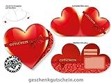 50 Stk. Herzgutscheine für alle Branchen und Anlässe geeignet BL453