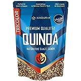 Naduria Premium Quinoa Samen (Tricolor) | 2000g (4 x 500g) | Schwarz, rot & weiße Samen | Reichhaltige Ballaststoffe | Quellen von Proteinen | Ideale Alternative zu Reis | Vegan