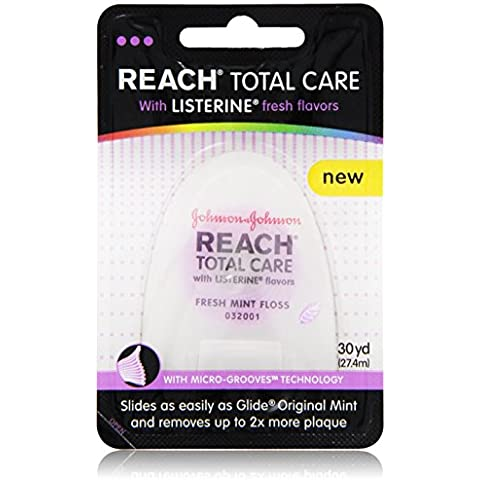 Reach Total Care floss with Listerine Fresh Flavors 30-Yard, (Pack of 6) by Reach