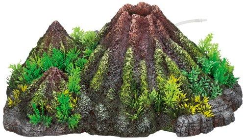 Nobby 28338 Aquarien-deko Aqua Ornaments Vulkan mit Pflanzen, L37 x B28 x H15 cm