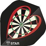 Unbekannt BULL'S B-Star Dart Flights A-Standard Bristle Board Dartscheibe Herz