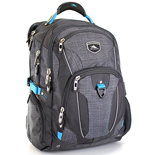 the-new-high-sierra-elite-business-back-pack-granite-grey-with-free-smash-water-bottle