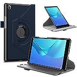 Infiland Huawei MediaPad M5 8.4 Hülle Case, Ultra Dünn Superleicht Rotating Ständer Schutzhülle Etui Tasche für Huawei MediaPad M5 8,4 Zoll Tablet-PC(mit Auto Schlaf/Wach Funktion),Dunkleblau