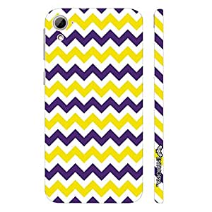 HTC Desire 826 CHEVRON YELLOW AND PURPLE designer mobile hard shell case by Enthopia