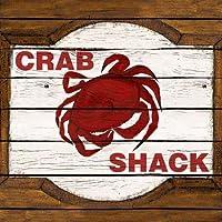 Feelingathome.it, STAMPA SU TELA 100% cotone INTELAIATA Crab Shack cm 71x71 (dimensioni personalizzabili a richiesta)