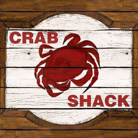 Feeling at home, Stampa artistica x cornice - quadro, fine art print, Crab Shack cm 71x71