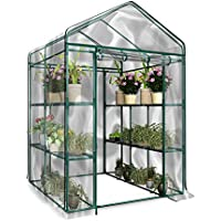 Funihut Invernadero de jardín PVC plástico Tienda Abrigo Planta jardinería Insectos pájaros protección 143* 73* 195cm