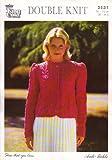 "King Cole Knitting Pattern 2531 : Womens Leaf Cardigan, Sizes (4) 76-112cm (30-44"") Double Knitting"
