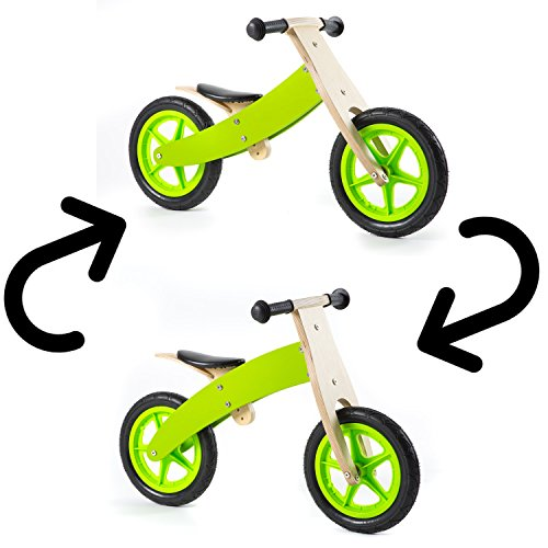 nicko-reversible-wooden-balance-bike-green