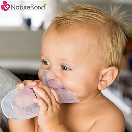 NatureBond Silicone Breastfeeding Manual Breast Pump Milk Saver Suction   All-In-1 Lid, Carry Pouch, Air-Tight Vacuum Sealed in Hardcover Gift Box. BPA Free & 100% Food Grade Silicone